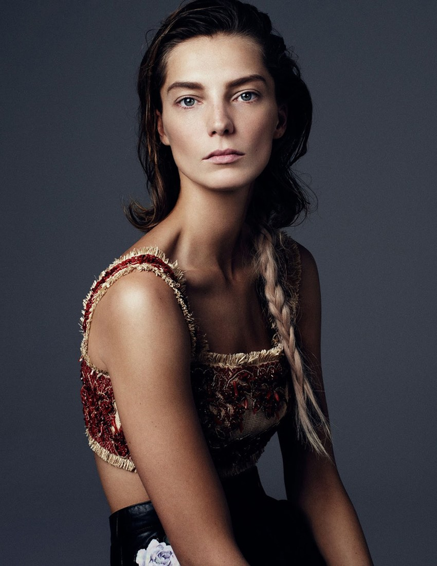 Vogue Ukraine March 2013 Daria Werbowy braids