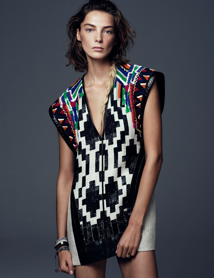 Vogue Ukraine March 2013 Daria Werbowy embellished vest