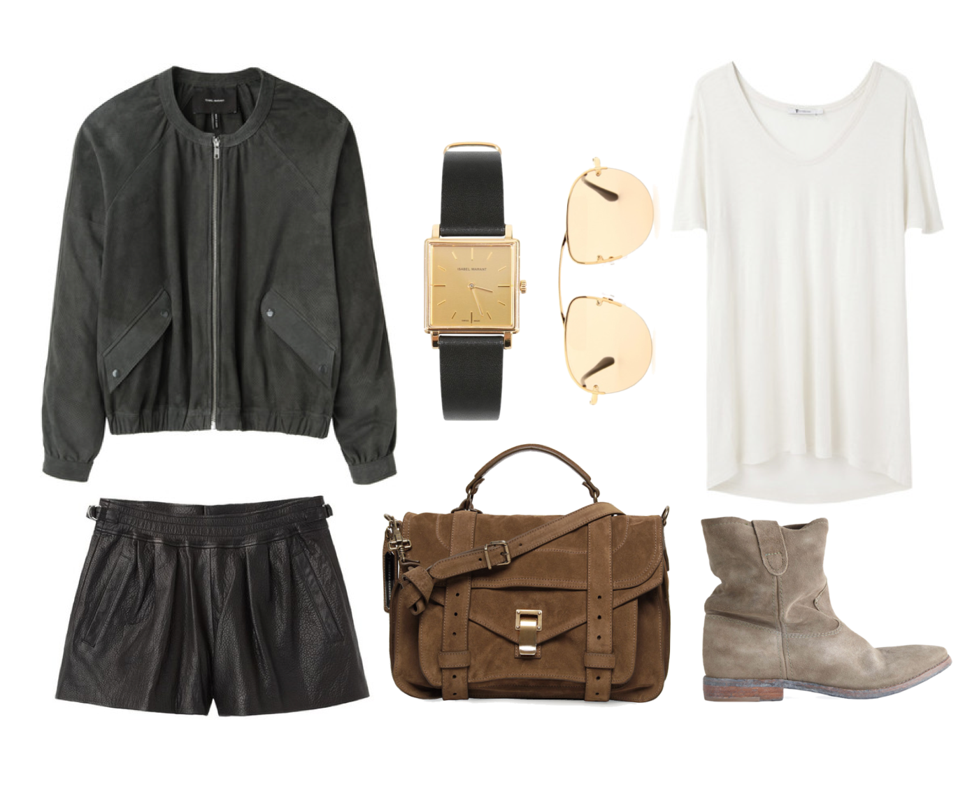 WIsh Outfit March - Isabel Marant, Proenza Schouler and T by Alexander Wang