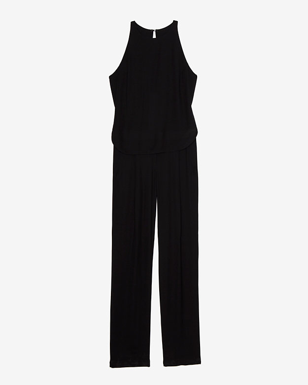 ALC  exclusive Italian crepe sleeveless jumpsuit