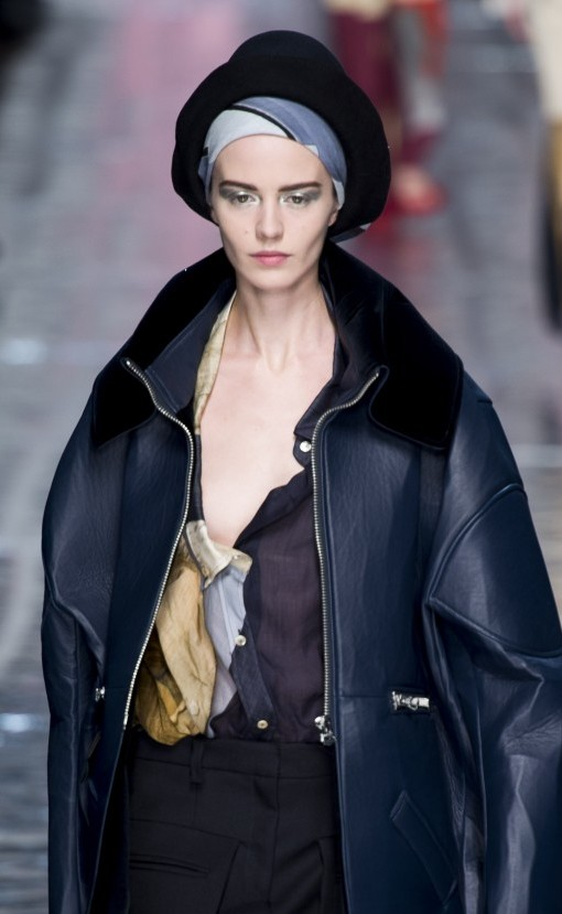 Acne AW13 hat black hat and scarf