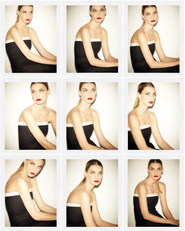 Angela Lindvall by Ezra Petronio issue 38 styled by Susanne Koller polaroids