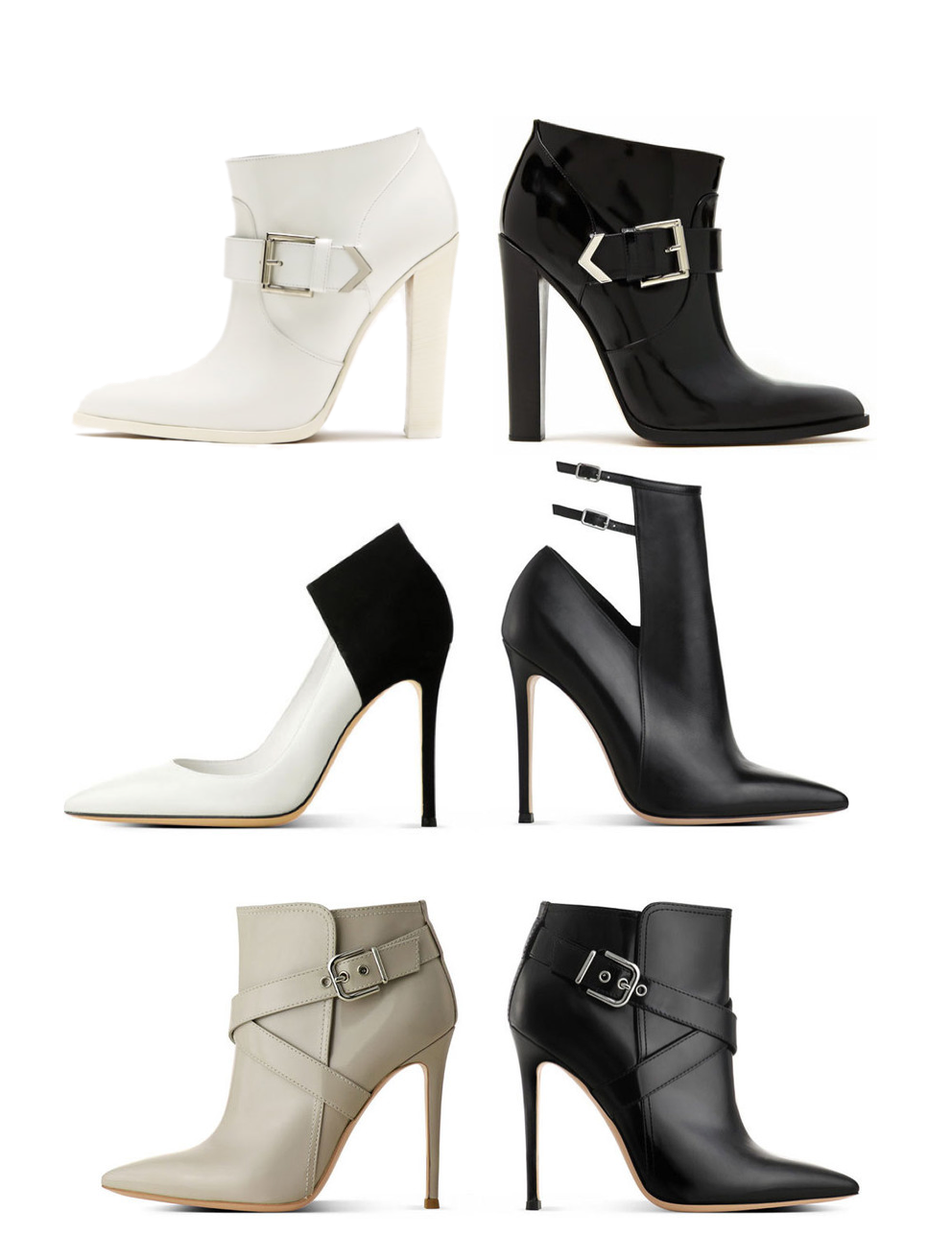 Black and white shoes FW13 - Altuzarra, Gianvito Rosso