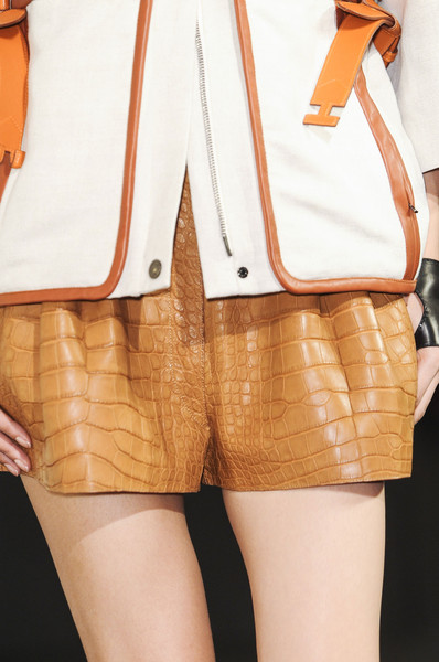 Herms Spring 2013 RTW croco shorts