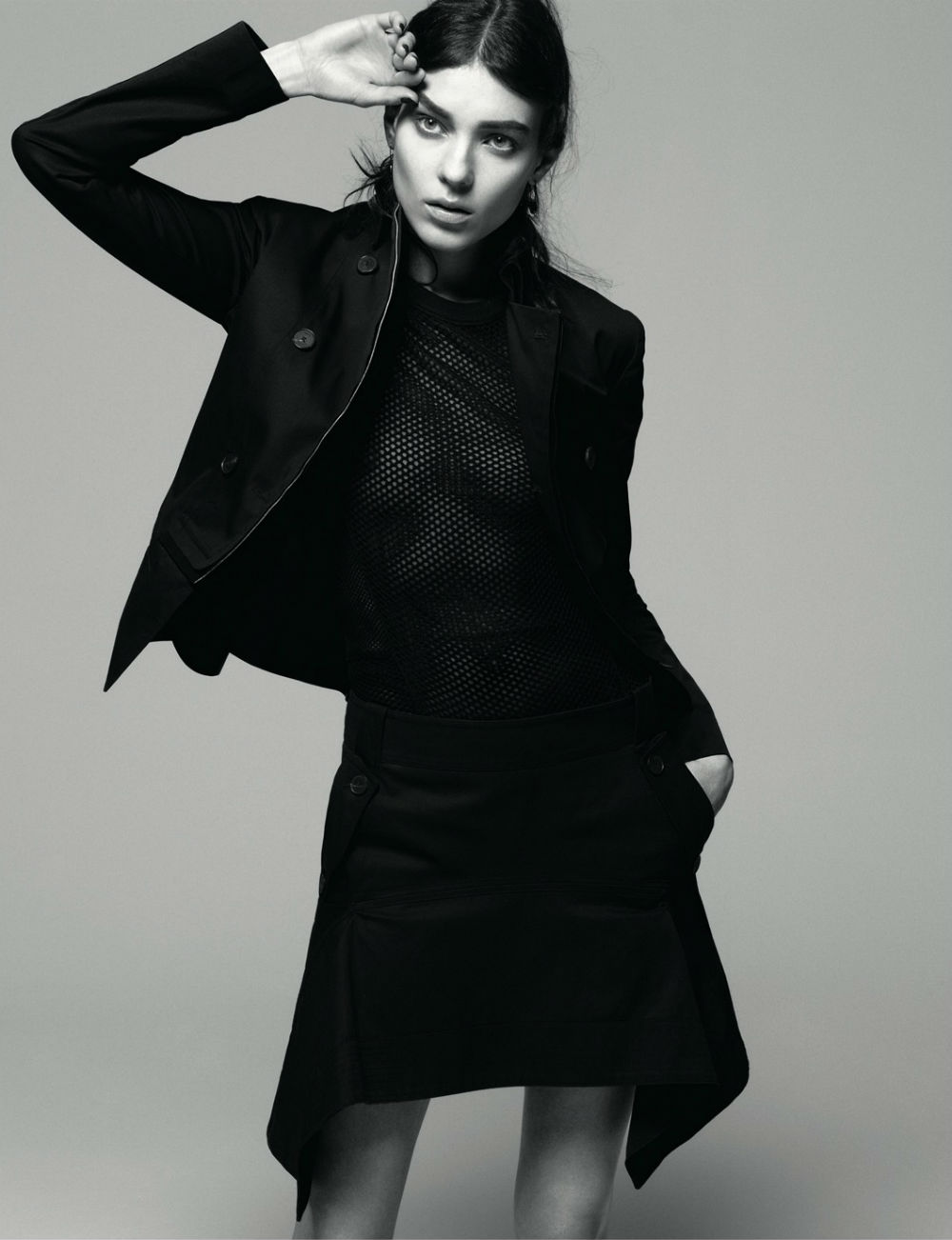 Kati Nescher in AnOther Magazne Spring 2013 by Daniel Jackson all black look
