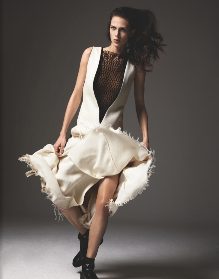 Numro Magazine April 2013 Aymeline Valade by Richard Bush Cline dress