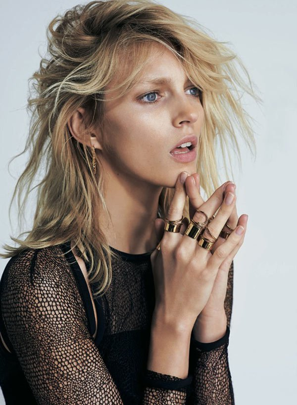 S Moda April 2013 Anja Rubik by Eric Guillemain Balenciaga rings