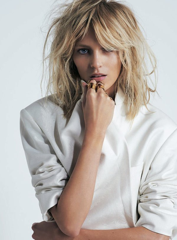 S Moda April 2013 Anja Rubik by Eric Guillemain white shirt