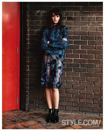 Style.com:Print issue 4. blue outfit