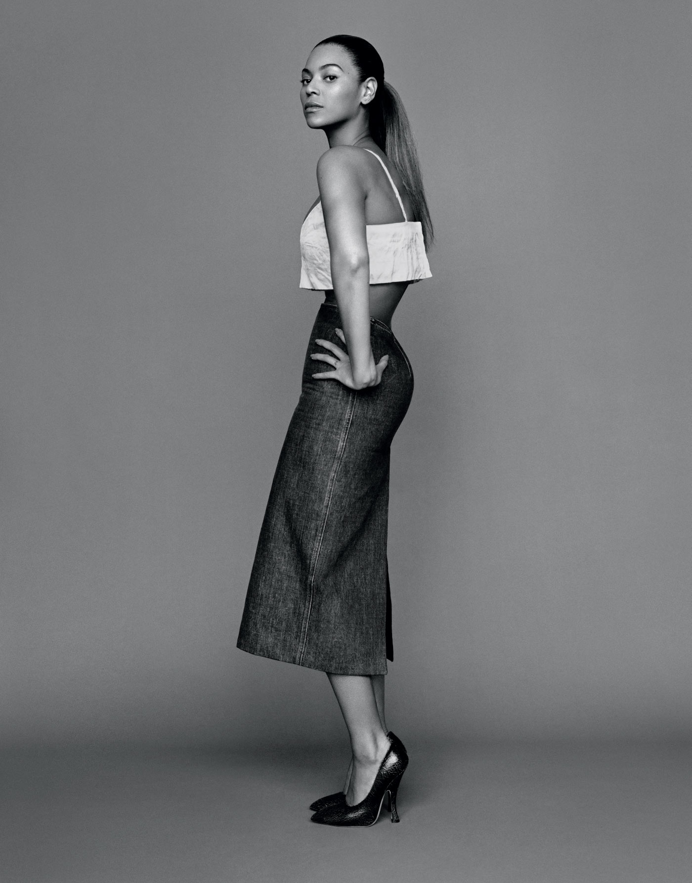 The Gentlewoman Spring and Summer 2013 Beyoncé skirt and pumps