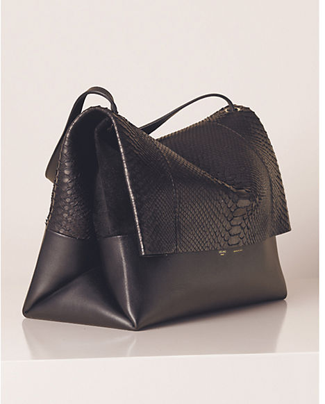 Céline All Soft in Python and Calfskin black Summer 2013 hand bag