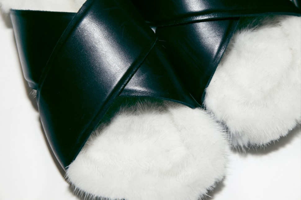 Céline fur slippers Spring 2013