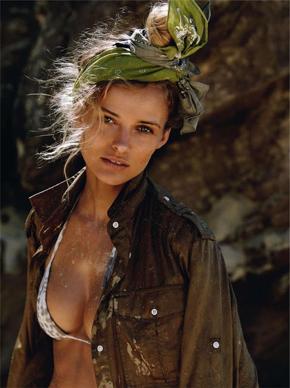 Edita Vilkeviciute for Vogue Paris Supplement June:July 2013 by Gilles Bensimon scarf bandana