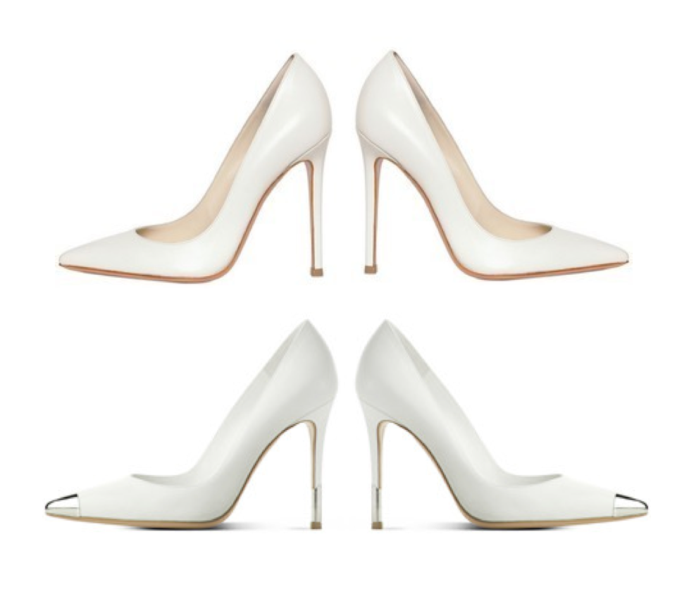Gianvito Rossi white leather pumps