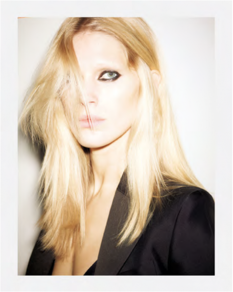 Iselin Steiro by Ezra Petronio issu 38 Self Service Magazine by Suzanne Koller - tux from Fursac tank American Apparel
