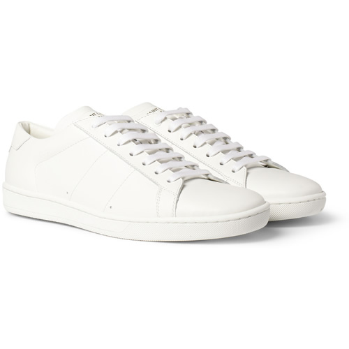 Saint Laurent low-top leather white sneakers