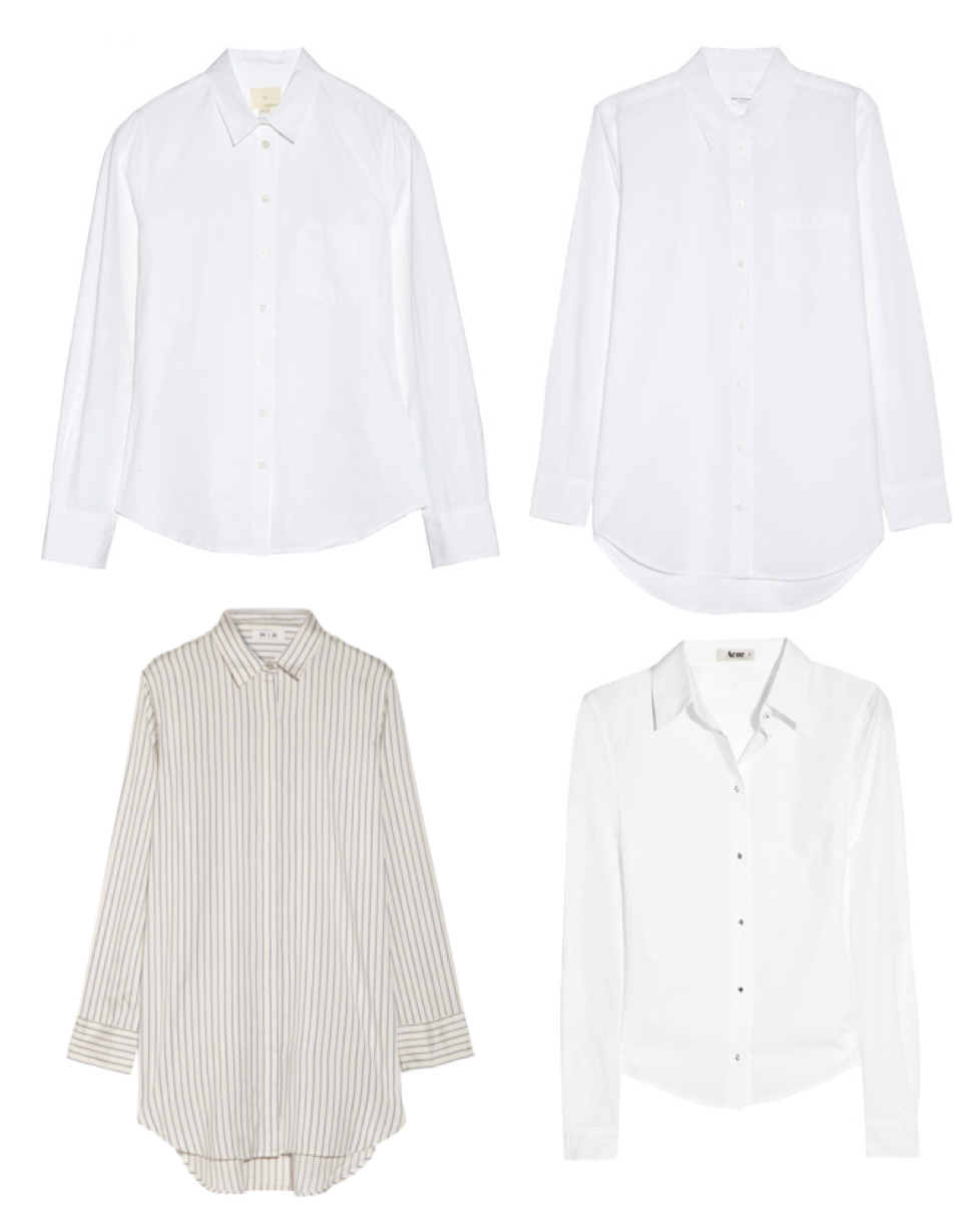 Shirt - white and striped Acne, Equipment, Band of Outsiders and MiH