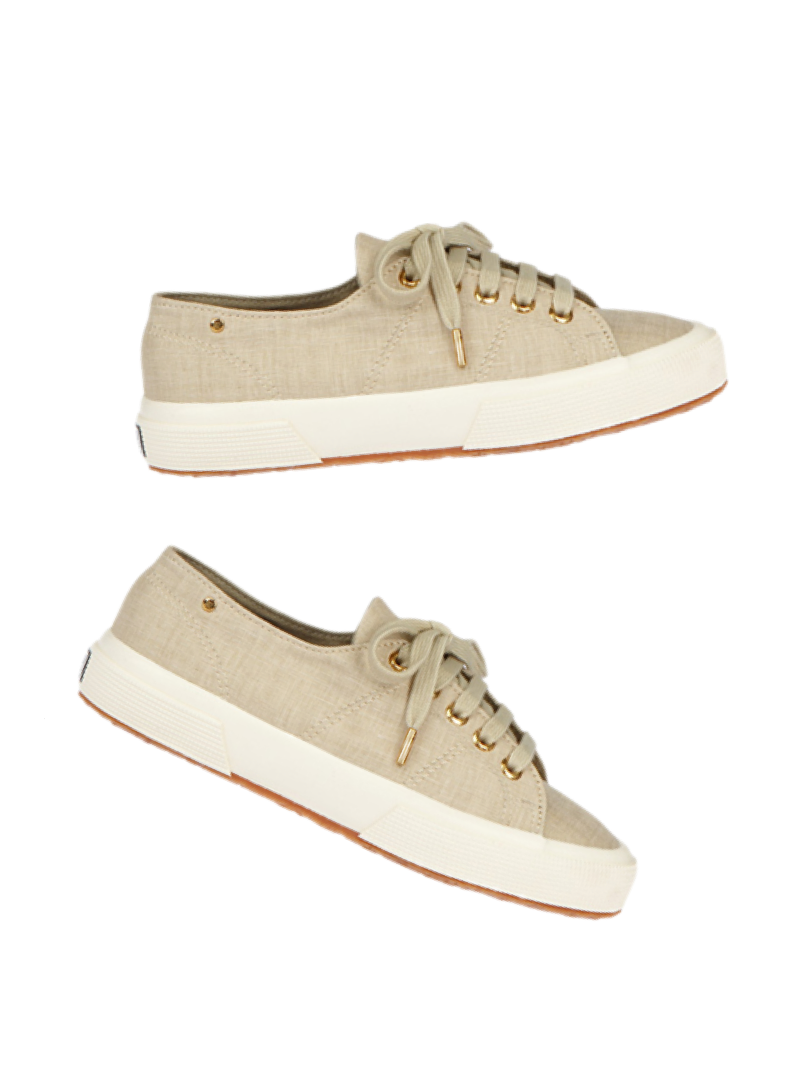 Superga and The Row sneakers in linen