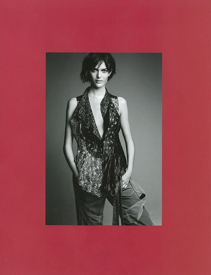 System issue 1 by Patrick Demarchelier Balenciaga styled by Marie-Amélie Sauvé Fall 2002