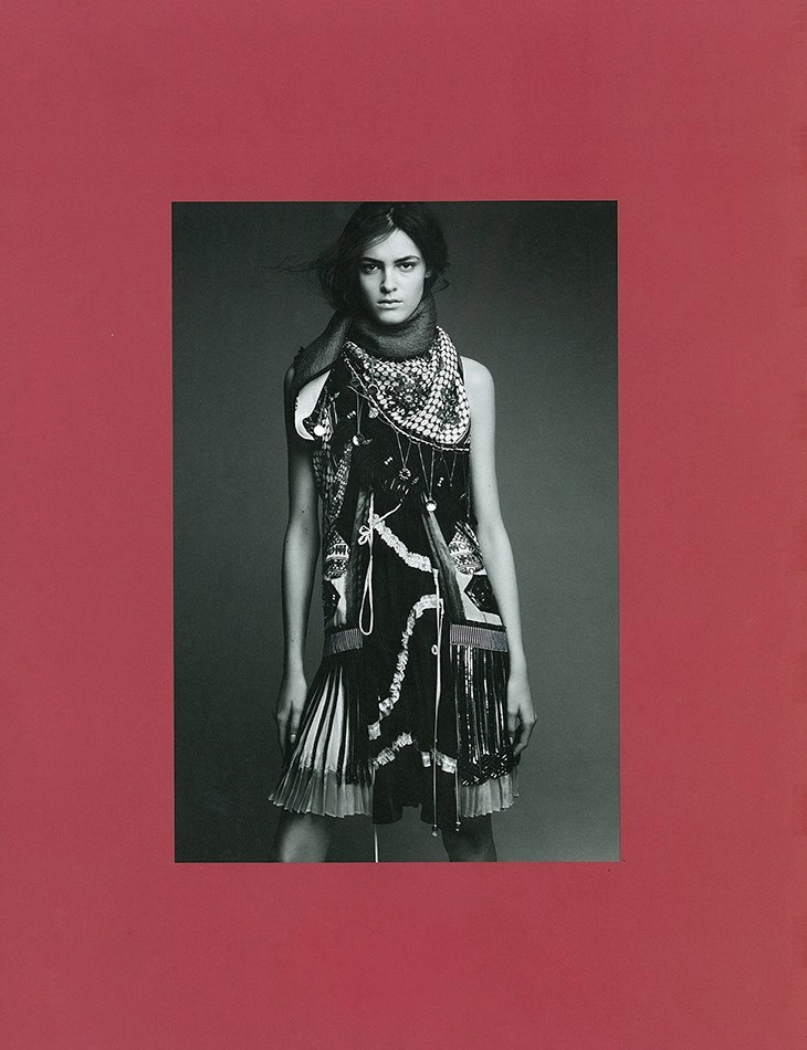 System issue 1 by Patrick Demarchelier Balenciaga styled by Marie-Amlie Sauv Fall 2007