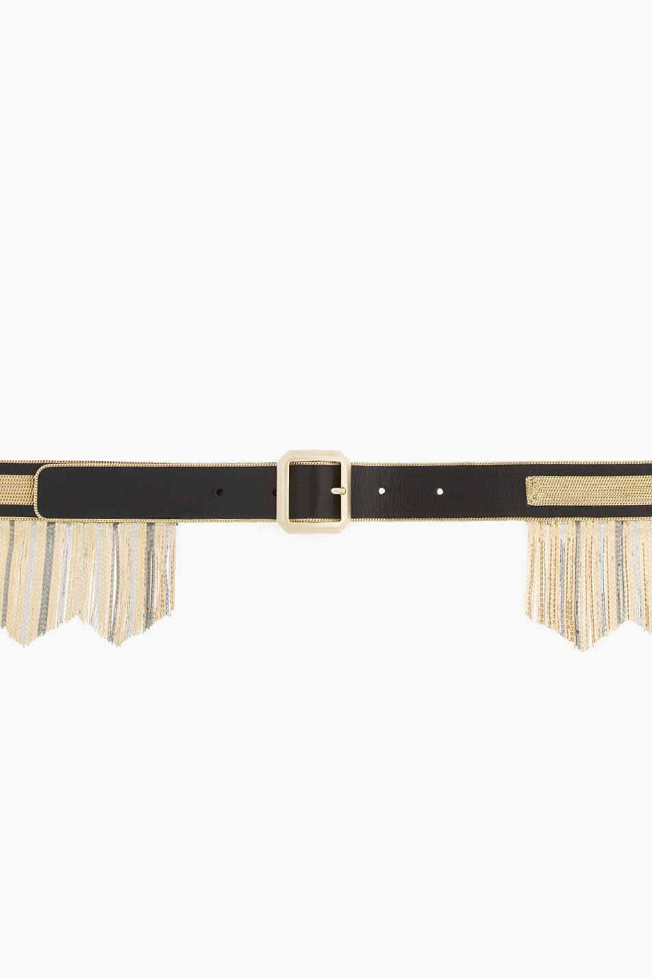 Versace micro-fringed chain leather belt