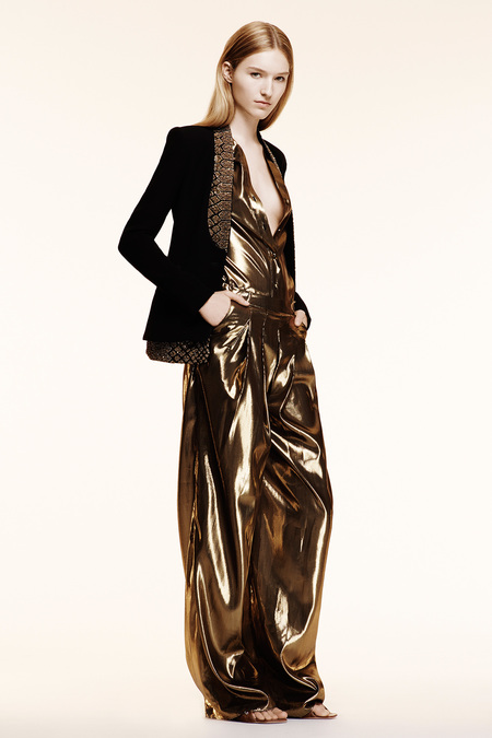 Altuzarra Resort 2014 gold pyjamas