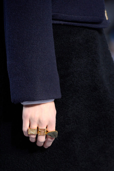 Chloé Fall 2013 rings