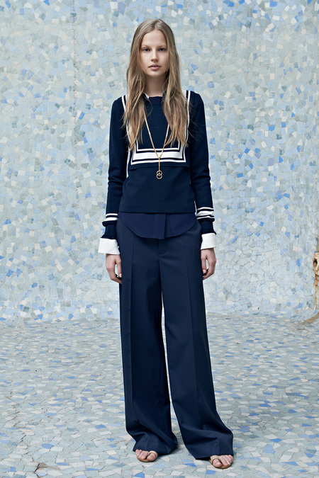 Chloé Resort 2014 navy look