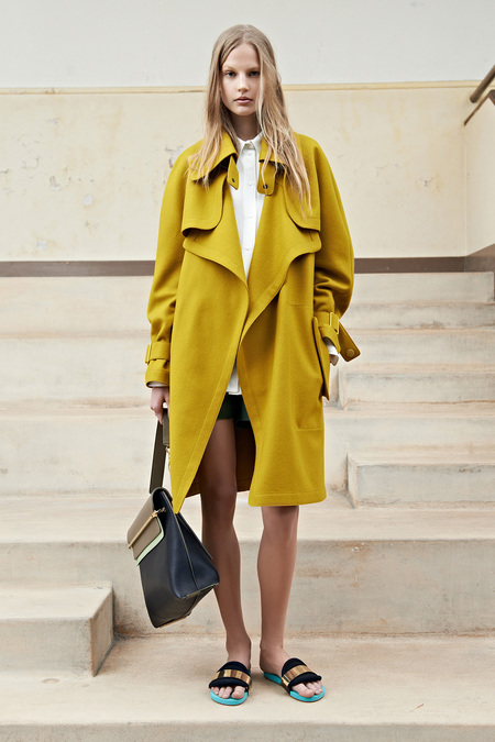 Chloé Resort 2014 yellow trench coat