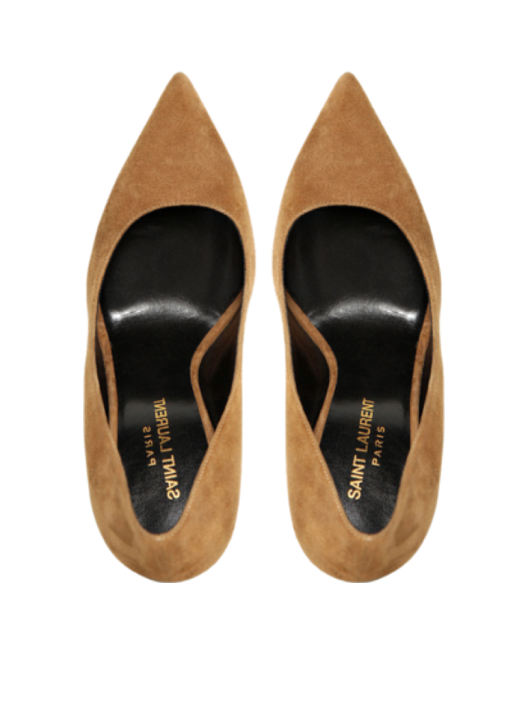 Saint Laurent Paris 105mm Paris Pointed Suede Pumps