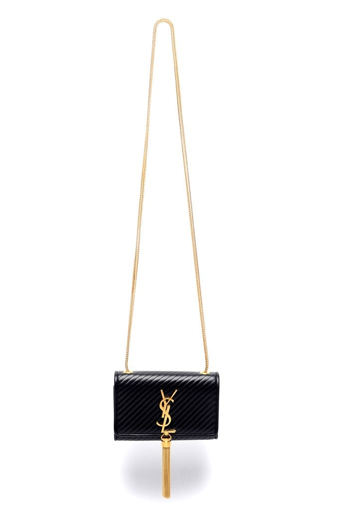Saint Laurent Shoulder bag Fall 2013 gold and black logo
