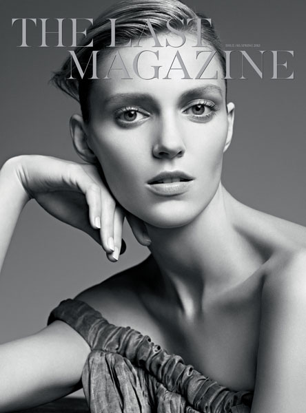 The Last Mgazine issue 10 Cover Anja Rubik SS13
