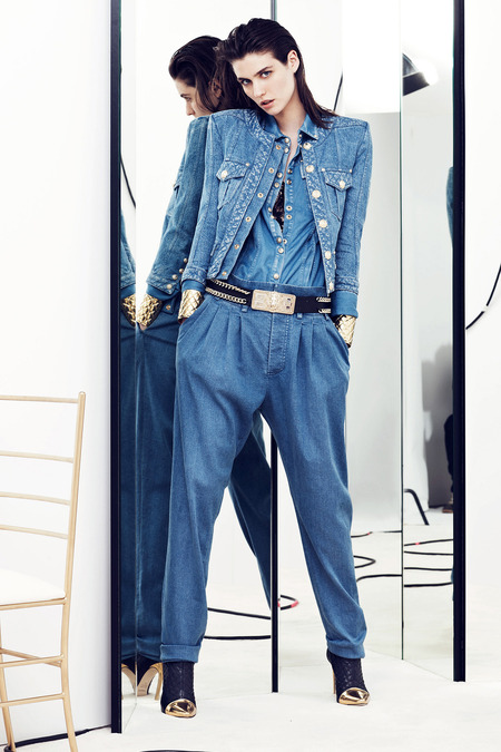 Balmain Resort 2014 Denim on denim
