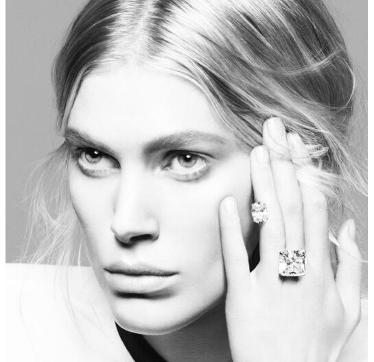 Repossi diamond ring featuring Iselin Steiro by David Sims