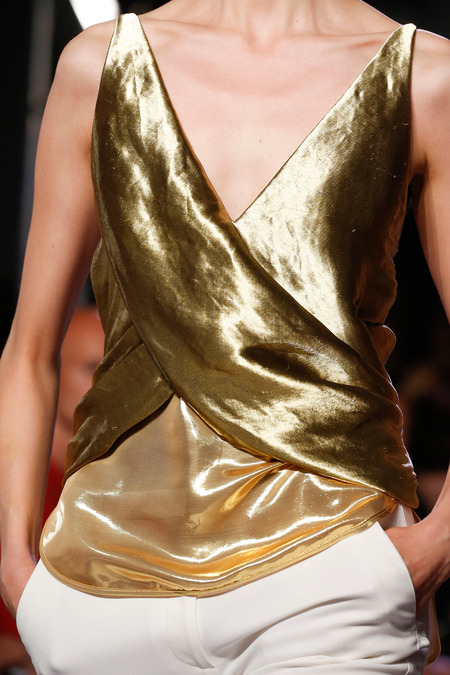Altuzarra Spring 2014 gold top