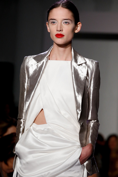 Altuzarra Spring 2014 white and red lips