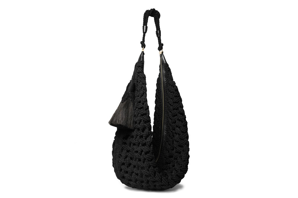 The Row SS14 hobo bag black braided