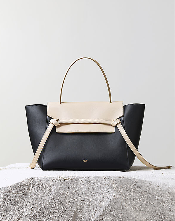 Céline Pre-Fall 2014 bicolor belt knot tote bag