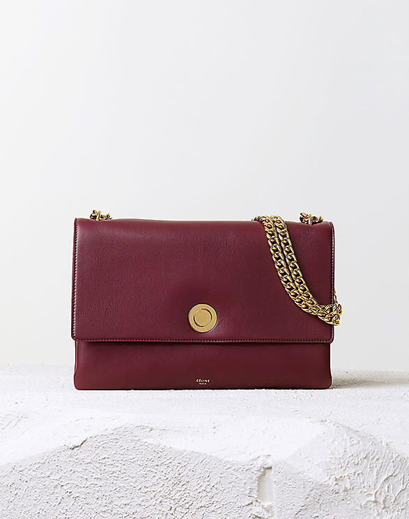 Céline Pre-Fall 2014 burgundy coin flap bag