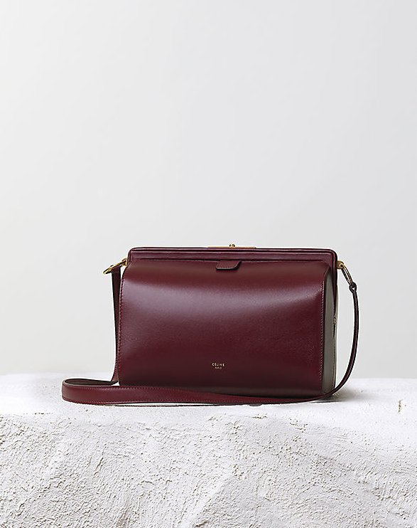 Céline Pre-Fall 2014 burgundy mini doc messenger bag