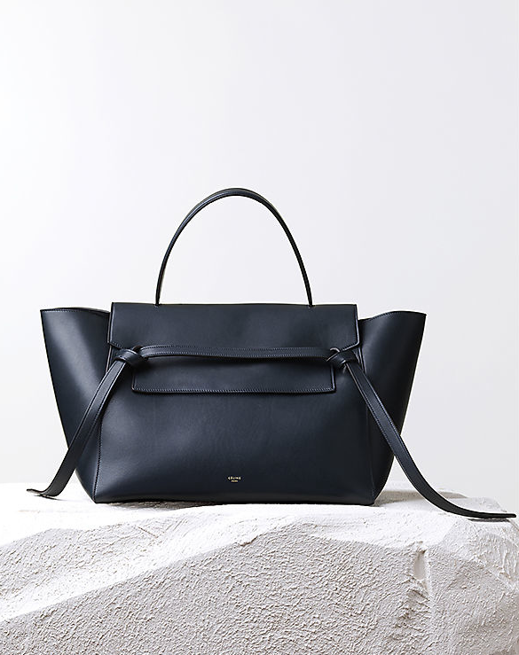 Céline Pre-Fall 2014 navy belt knot calfskin tote bag