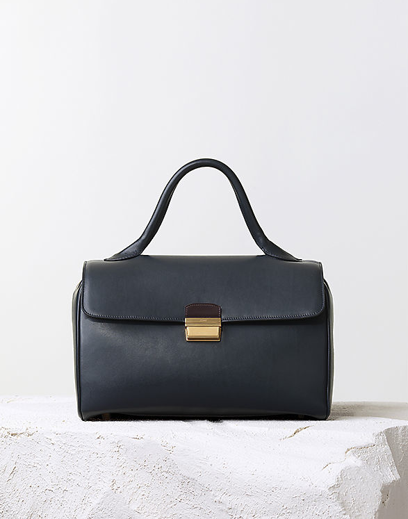 Céline Pre-Fall 2014 navy top handle calfskin bag